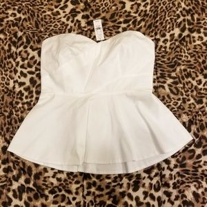 bad2c99c69b8c4 New York & Company Tops | Nwt Ny Company Strapless Peplum Top | Poshmark